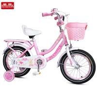 儿童自行车宝宝脚踏车单车男女孩一体后座架3-6-7-8-9岁