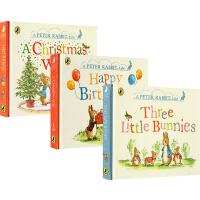 彼得兔英文原版绘本 情绪管理 A Peter Rabbit Tale 3册 纸板书 幼儿启蒙认知