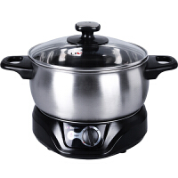 利仁(Liven)DHG-180F 电火锅(银色)多功能电热锅 小巧,清洗方便,优质不锈钢锅身