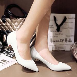 【包邮】2017女鞋情趣性感高跟鞋春新款潮尖头欧美浅口细跟时尚单鞋128-1ZZM支持