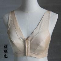 大胸显小全罩杯文胸薄款针织前扣哺乳超薄无钢圈内衣夏