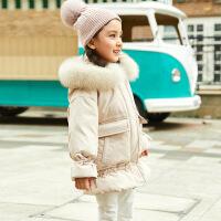 女童羽绒服中长款加厚2018新款冬装韩版中大童儿童装洋气宝宝外套
