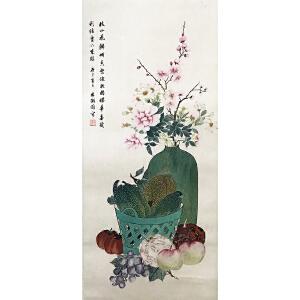 林徽因《花鸟1114》纸本立轴