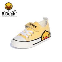 B.Duck小黄鸭童鞋儿童帆布鞋2020春季新款男女孩遇光变色布鞋板鞋