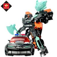�和��形玩具金��玩具�C器人套�b大�男孩汽�人模型玩具