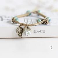小清新文艺范手工捏制陶瓷手链饰品