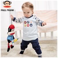 PWU1731021大嘴猴(Paul Frank)婴童棉内衣套 宝宝内衣四季款套装长袖圆领套装