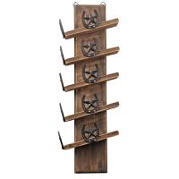 欧式实木酒架壁挂墙壁墙上置物架创意摆件悬挂家用客厅酒柜吧台
