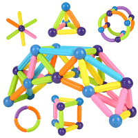 磁力棒�和�智力玩具�e木1-2-3-6-7-8-10周�q男孩女孩����磁�F拼�b