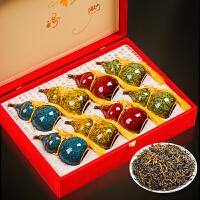 金骏眉红茶茶叶散装金俊眉春节年货*礼品葫芦罐礼盒装