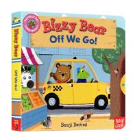 【全店300减100】英文原版 忙碌的小熊 儿童绘本操作书 Bizzy Bear Off We Go 启蒙纸板活动操作机