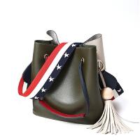 简约水桶包新款单肩大包包韩版手提女包百搭斜挎包潮