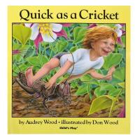 英文原版绘本 Quick as a Cricket 廖彩杏书单 启蒙韵文附CD