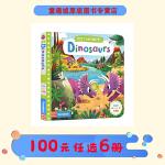 First Explorers 系列 Dinosaurs 恐龙 幼儿知识探索启蒙机关操作活动纸板书
