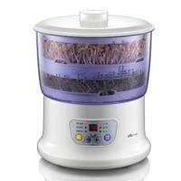全自动豆芽机 家用双层发豆芽机育苗机 紫色