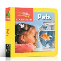 英文原版绘本 National Geographic Kids Look and Learn Pets 动物科普知识书