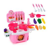 �和��N房套�b仿真�N具女孩做��^家家水果切切�沸∝i玩具 ��出水的�^家家 12件【粉色】