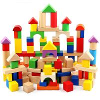 积木玩具1-2周岁男孩 宝宝益智木制桶装儿童积木3-6周岁女孩