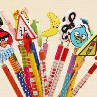 木制卡通头铅笔 创意文具可爱学习用品小学生奖品礼品礼物批发C03