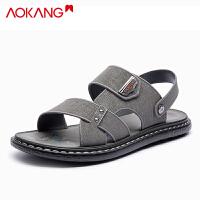奥康凉鞋男夏季休闲外穿时尚沙滩鞋男士透气两用凉拖鞋