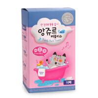 韩国Angeur婴儿洗护干巾植物配方泡泡浴巾洗发沐浴润肤澡巾 10片
