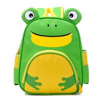 【用券立减100元,到手价32元包邮】乌龟先森 儿童书包 韩版3-6岁动漫卡通尼龙拉链幼儿园青蛙老虎潮可爱儿童双肩背包
