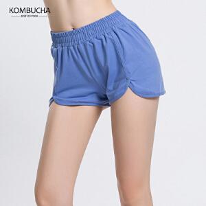 【满100减50/满200减100】Kombucha瑜伽健身短裤女士弹力速干透气健身跑步宽松运动短裤K0083