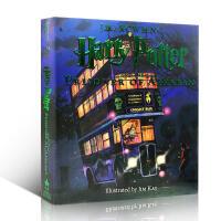 【全店300减100】英文原版 哈利波特与阿兹卡班的囚徒插图版 Harry Potter and the Prisone