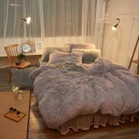 冬季珊瑚绒公主风四件套绒加厚保暖加绒夹棉床裙绗绣床上用品