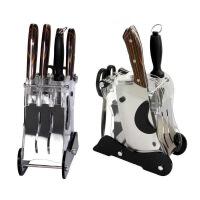 楼龙 厨房套刀七件套 切片刀 亚力克刀架LL6605 HD-10 厨房用刀 中华名刀