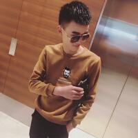 春季小码男装韩版套头卫衣男精神小伙XS码修身卫衣155小个潮卫衫