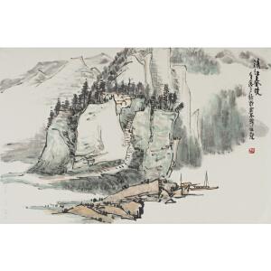刘海武 |《清江春晓》   69*46cm