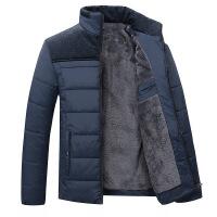 爸爸装冬季加绒加厚2018新款中年男士棉衣外套40棉袄老年50岁