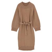 2018打底衫秋冬针织衫女新款羊绒宽松套头中长款圆领毛衣女
