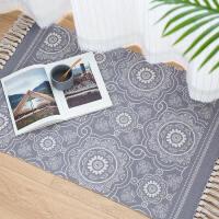 北欧地垫棉线家用卧室床边地垫地毯简约现代地垫厨房脚垫