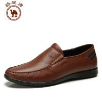 骆驼牌 春季新款 休闲商务皮鞋 轻便套脚流行男鞋子