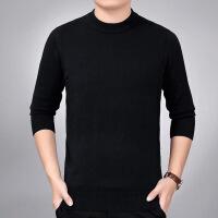 杰克官方琼斯旗舰店对比GX G官网针织衫男毛衣保暖打低衫中老年男式圆领加厚中年男士圆领薄款毛衣 黑色 16580A