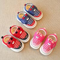 春秋宝宝学步鞋子女男童婴儿不掉鞋布鞋