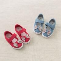 [2件3折价:48.9]戴维贝拉秋装新款女童鞋子女宝宝休闲帆布鞋DB7604