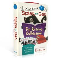 英文原版 儿童绘本 Splat the Cat 5册礼盒装 啪嗒猫 I Can Read Level 1 儿童启蒙学习
