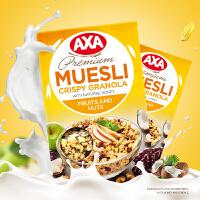 AXA水果坚果即食麦片250g脆麦非ica燕麦片早餐冲饮