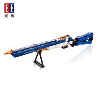 双鹰咔嗒积木科技M1式伽兰德步枪坦C81002儿童拼装益智积木玩具