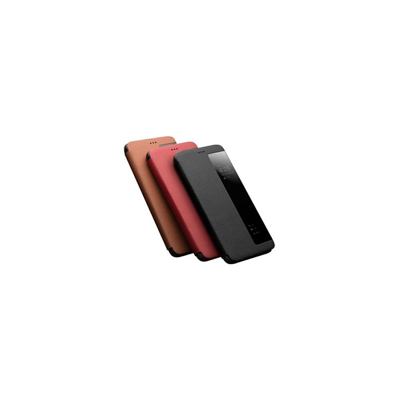 包邮支持礼品卡 华为 P20 Pro 手机壳 真皮  P20 智能 开窗休眠 翻盖 手机 保护 皮套 薄 头层牛皮 柔韧舒适