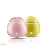 迷你香薰机超声波USB加湿器卧室办公室家用空气净化静音 少女粉+柠檬黄 可备注机器颜色