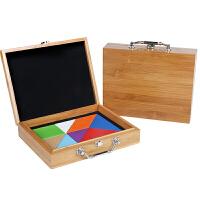 木质儿童七巧板智力拼图3-4-6-7岁男女宝宝玩具早教立体拼图