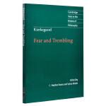 【中商原版】克尔恺郭尔:恐惧与颤栗(剑桥政治思想史经典文本丛书) 英文原版 Kierkegaard: Fear and