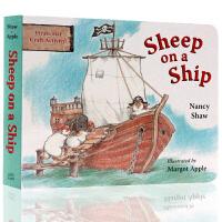 英文原版 Sheep on a Ship小羊在船上 廖彩杏幼儿英语启蒙绘本读物