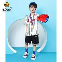【3折价:98.7】B.duck小黄鸭童装男童针织五分裤 BF2152907