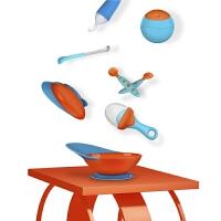 婴儿辅食碗 训练吃饭 儿童宝宝餐具吸盘碗 吸力强