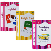The Complete Book of Three-Letter Words 字卡闪卡 3册 Alphabet/Ready for SchoolFlash kid 绿山墙